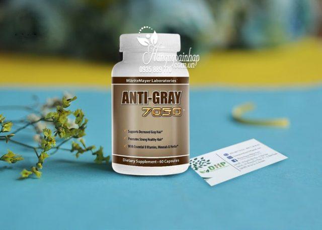 Viên uống trị tóc bạc sớm Anti Gray 7050 của Mỹ