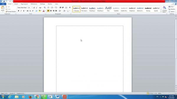 Làm thế nào để hiển thị khung căn lề trong Word 2010?