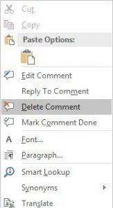 Cách xóa comment trong word