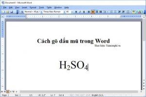 phím tắt đánh số mũ trong word