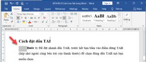 phím tắt chuyển tab trong word