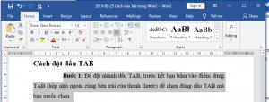 phím tắt mở tab trong word
