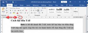 Phím tắt xóa Tab trong Word